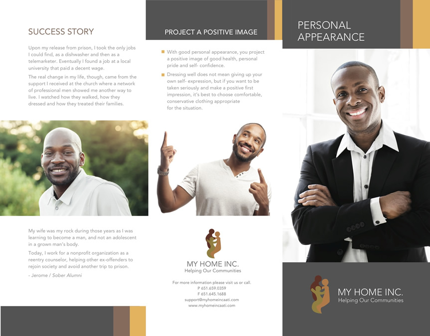 My Home Inc. Personal Appearance Brochure