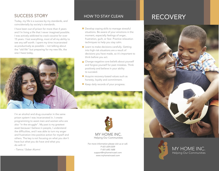My Home Inc. Recovery Brochure